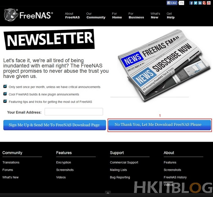 FreeNAS Installation