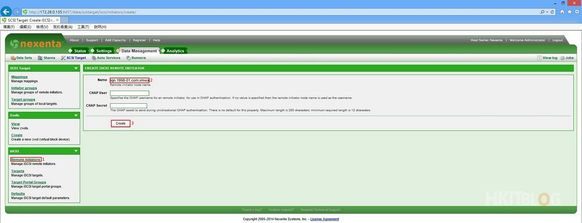 Nexenta for VMware iSCSI I Initiator