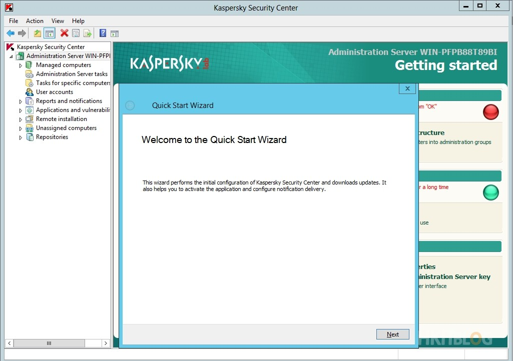 Kaspersky Security Center Installation