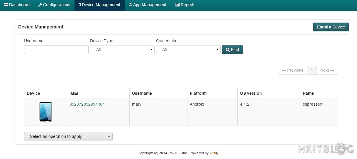 WSO2 Enterprise Mobility Manager EMM policy