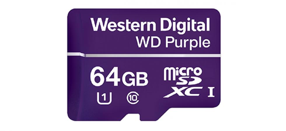 Western Digital推出首款Purple系列記憶卡 為視像監控帶來新方案