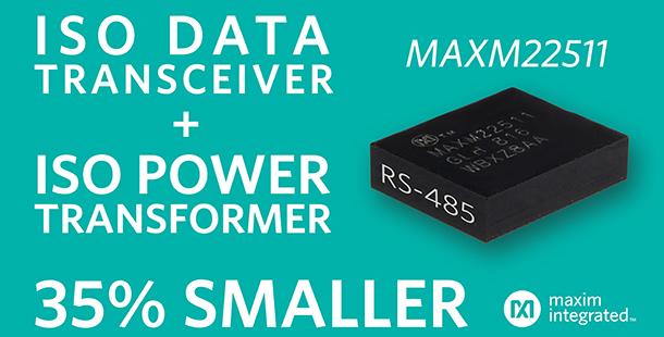 Maxim發佈全球最小RS-485收發模組 為工業4.0提供高效方案
