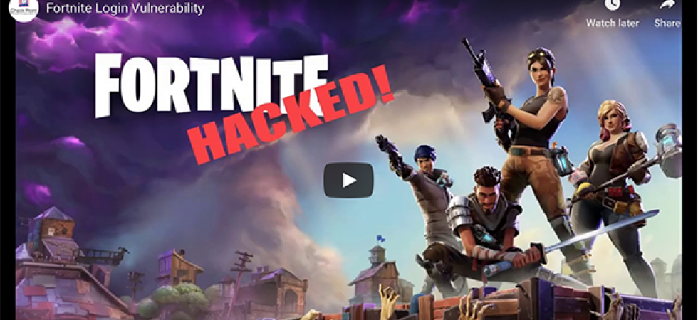 Fortnite漏洞暴光 駭客可盜取玩家帳號、數據與遊戲貨幣