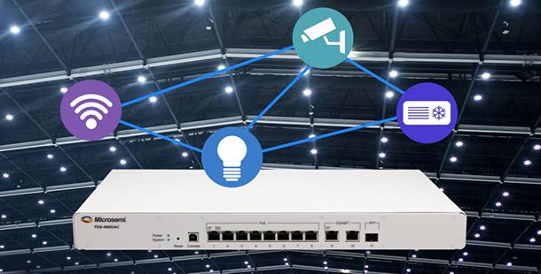 Microchip推出全新IEEE 802.3bt PoE交換器 傳送數據同時提供可靠電力傳輸