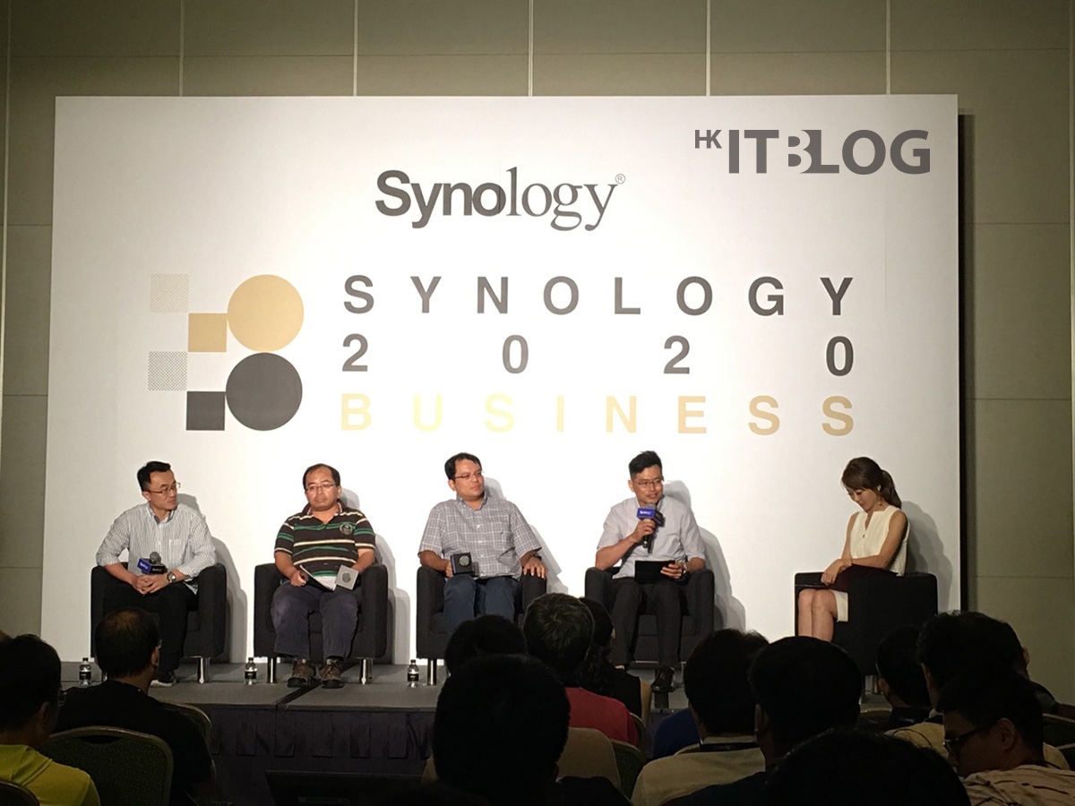 台上嘉賓分享他們企業的儲存伺服器架構